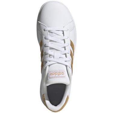 Hàng Chính Hãng Adidas Grand Court White/Gold **2020**