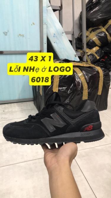 Hàng Chính Hãng NewBalance 574 All Black/ Red LOGO 2019**