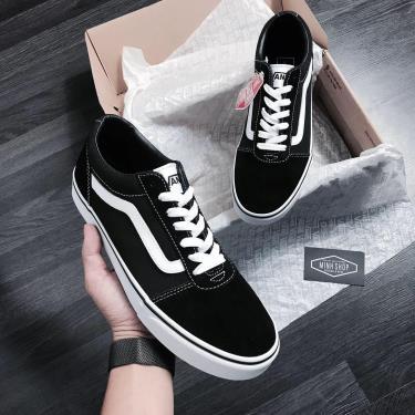 Hàng Chính Hãng Vans Ward  Black /White 2019**