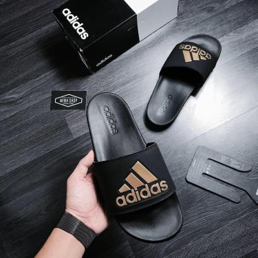 Hàng Chính Hãng Dép Adidas CF Adilette Black Gold  **2020**