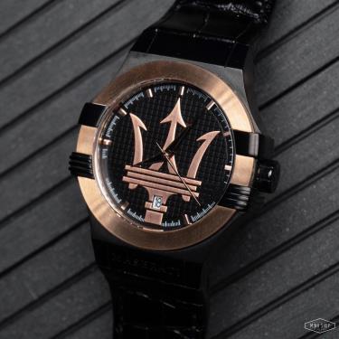 Hàng Chính Hãng Maserati Potenza Quartz Black Dial Watch 2021**