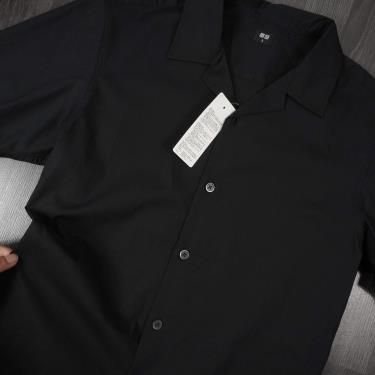 Hàng Chính Hãng Áo Sơ Mi Uniqlo Short Sleeve Shirt Black 2020**