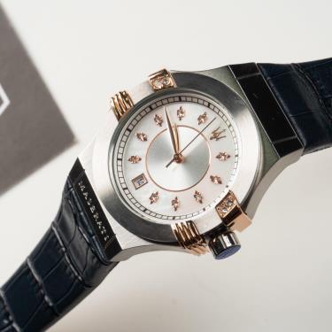Đồng Hồ Maserati Potenza Chronograph Silver Dial Ladies Watch Navy ** [R8851108502]