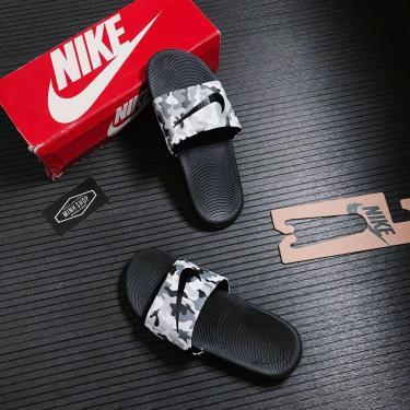 Hàng Chính Hãng Dép Nike Kawa Black Camo 2021**