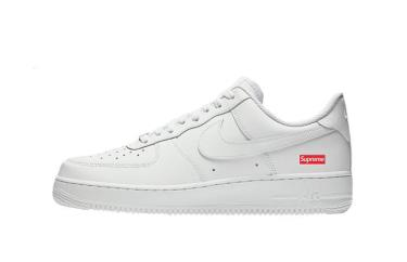 Hàng Chính Hãng Nike Air Force 1 Low Supreme White 2020**
