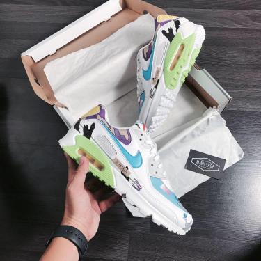 Hàng Chính Hãng Nike Air Max 90 Flyleather Ruohan Wang 2020**+