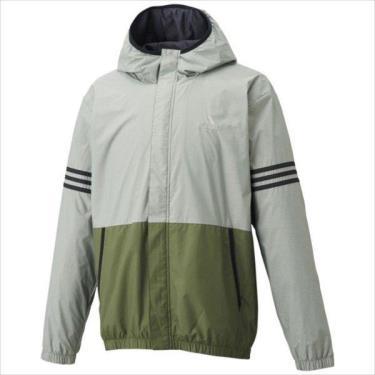 Hàng Chính Hãng Áo Khoác Adidas Block Wind Parker Grey/Green 2021**