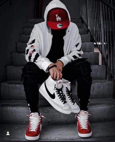 Hàng Chính Hãng Nike Blazer Mid 77 White/Black **2021**