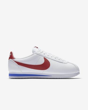 Hàng Chính Hãng Nike Classic Cortez Leather White/Red/Blue 2020**