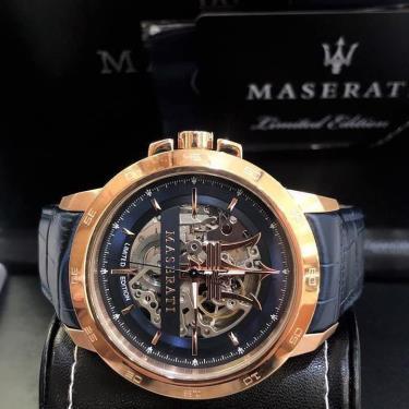 Hàng Chính Hãng Maserati Limited Edition Navy/Gold Watch 2021**