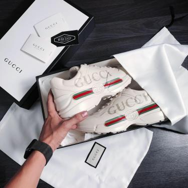 Hàng Chính Hãng Gucci Rhyton Leather Sneaker 'Logo' 2019**