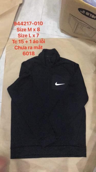 Hàng Chính Hãng Áo Khoác Nike Half Zip Jacket Black 2020**