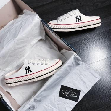 Giày MLB PlayBall Origin Mule York Yankees Shoes White [32SH1011 50W] [ O ]