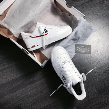 Hàng Chính Hãng Nike Air Force 1 Low White/America LOGO ''CUST'' **2020**