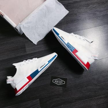 Hàng Chính Hãng Adidas NMD R1 V2 White/Red/Blue  2020**