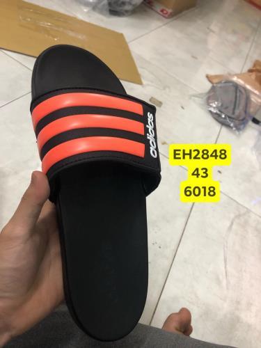 Hàng Chính Hãng Dép Adidas CF Slides Stripes Black/Orange  **2020**