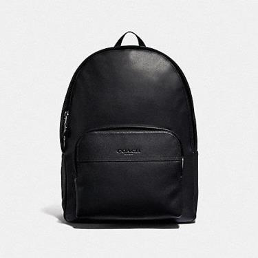 Hàng Chính Hãng Balo Coach Houston Travel Large  in Smooth Leather Black 2020**