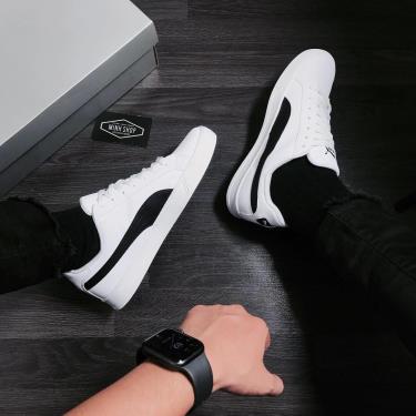 Hàng Chính Hãng Puma Smash Vulc White/Black 2020**