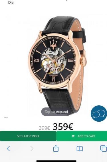 Hàng Chính Hãng Maserati Epoca Automatic Movement Skeleton Watch 2020**