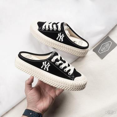 XỎ VÔ LÀ ĐI -400k OFF🔥 🔥 Giày MLB PlayBall Origin Mule York Yankees Shoes Black [O] ** [32SHS1111-50L]