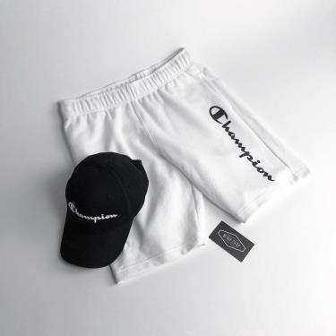 Hàng Chính Hãng Quần Short Champion White Straight Logo 2020**