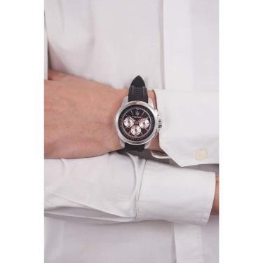 Đồng Hồ Maserati Sfida Chronograph Black/Silver Silicone Watch ** [R8851123001]