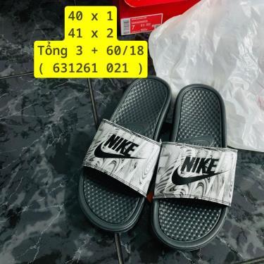 Hàng Chính Hãng Dép  Nike Benassi JDI Print Black/Grey 2019**