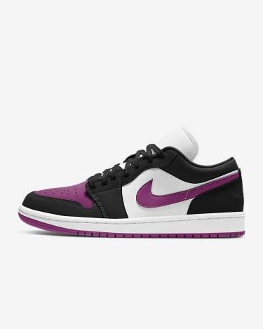 Hàng Chính Hãng Nike Air Jordan 1 Low Black Cactus Flower 2021**