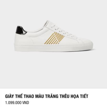 Hàng Chính Hãng Zara Sneaker White/Gold 2020** ZZZZZ
