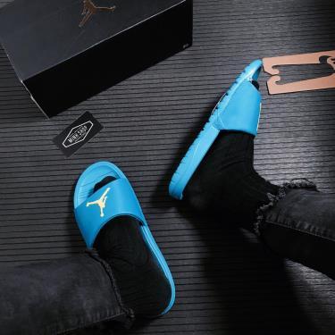 50% OFF Giày Dép Nike Air Jordan Break Slide Laser Blue/Yellow ** [AR6374 402]