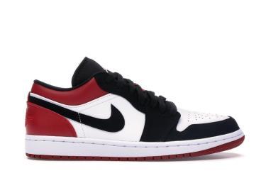 Hàng Chính Hãng Nike Air Jordan 1 Low Black Toe 2019**