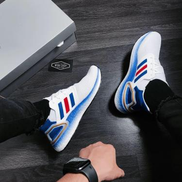 ADIDAS ULTRA BOOST 6.0 WHITE BLUE RED METALLIC GOLD 2021 [FY9039]