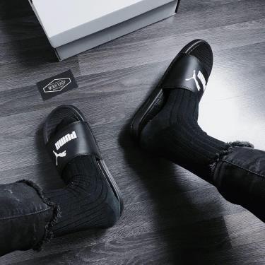 Hàng Chính Hãng Dép Puma Black/White LOGO 2020** NEW** ( GẦN HẾT )