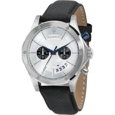 Hàng Chính Hãng Maserati Circuito Silver Dial Watch 2020**