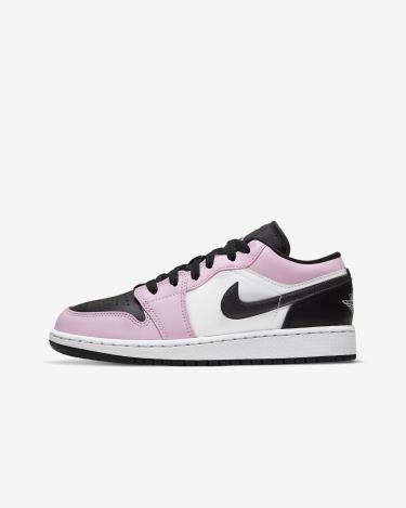 Hàng Chính Hãng Nike Air Jordan 1 Low 'White Light Arctic Pink' (GS) 2020**