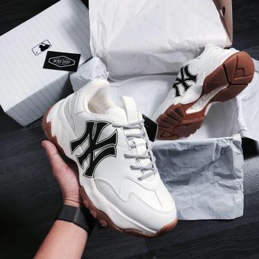 Hàng Chính Hãng MLB New York Yankees Sneakers - Big Ball Chunky A White Gum **2020**