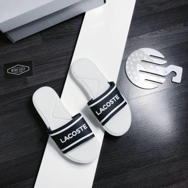 Hàng Chính Hãng Dép Lacoste Slide  White/Navy 2021**