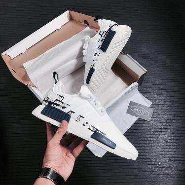 Hàng Chính Hãng Adidas NMD R1 Label Pack Crystal White 2021**