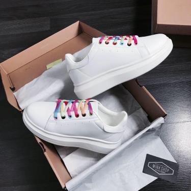 Giày Domba White/Rainbow ** [H-9120]