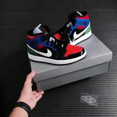 Giày Nike Jordan 1 Mid Multi Patent  [O] ** [CV5276 001]