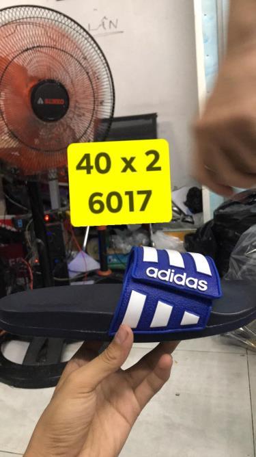 Hàng Chính Hãng Dép Adidas CF Slides Stripes Black Blue White 2020**