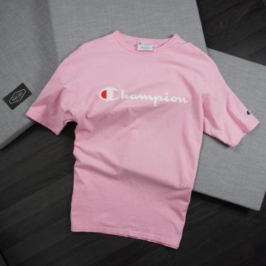 Hàng Chính Hãng Áo Thun Champion Printed Script Logo Pink 2020**