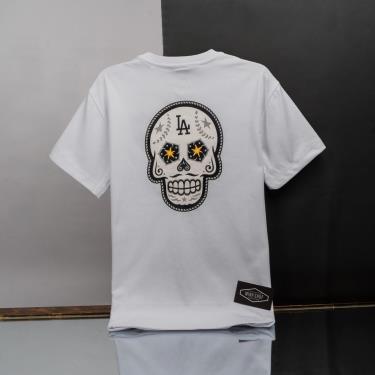 Hàng Chính Hãng Áo Thun New Era X MLB Sugar Skull LA Dodgers T-shirt White