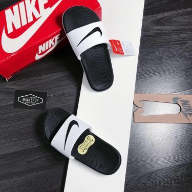 Hàng Chính Hãng Dép Nike Kawa Slide Black/White 2020**