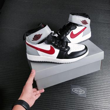 Hàng Chính Hãng Nike Jordan 1 Hi Flyease Black Particle Grey Gym Red  2021** V