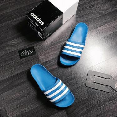 Hàng Chính Hãng Dép Đúc Adidas Adilette Aqua Slides Blue/White **2020**