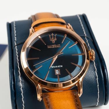 Hàng Chính Hãng Maserati Epoca Dial Brown/Blue Watch 2020**