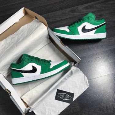 Hàng Chính Hãng Nike Jordan 1 Low Pine Green 2020**