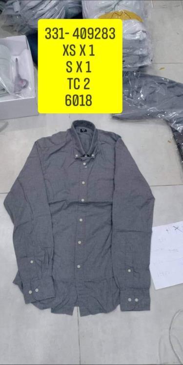 Hàng Chính Hãng Áo Uniqlo Flannel Long Sleeve Shirt Grey 2020**