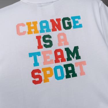 Hàng Chính Hãng Áo Thun Adidas Change Is a Team Sport Tee  White/ Mutil 2021**